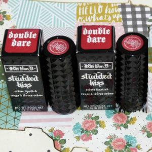 3/$24 2 pc Double Dare Kat Von D Studded Lipstick